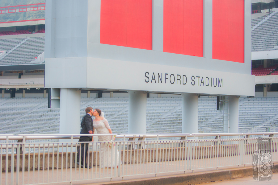 Sanford Stadium Wedding Photo