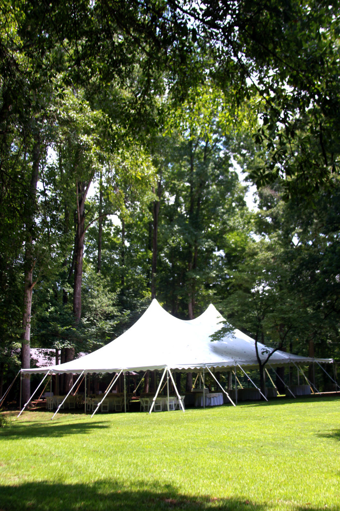 White Wedding Tents Athens GA