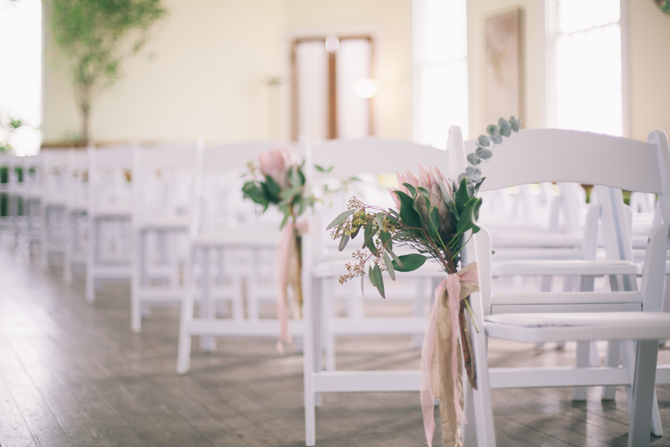 White Folding Ceremony Chairs - Athens Georgia Wedding Rental
